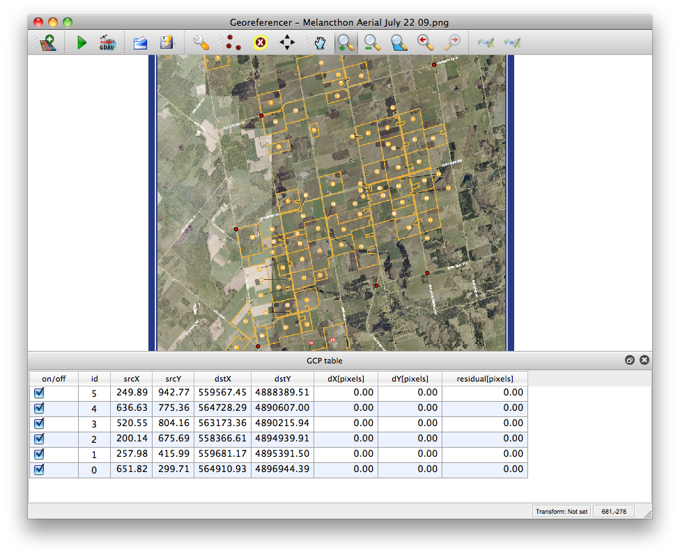 image georeferencing with QGIS | Numpty's Progress