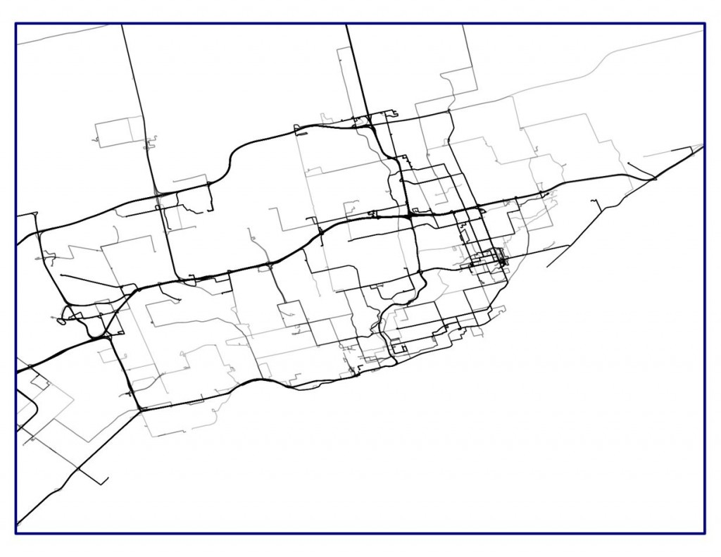 My GPS tracks in Toronto, 2007–present