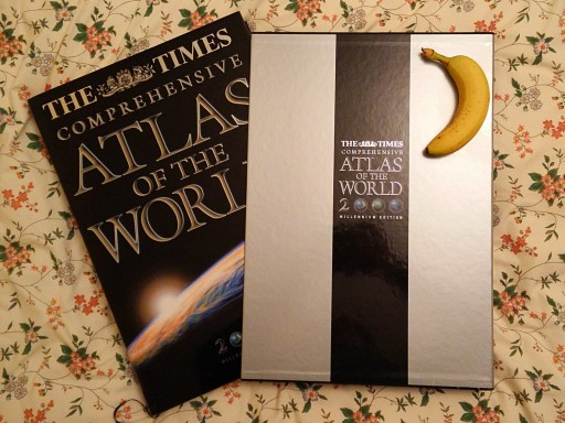 Time Comprehensive Atlas of the World, Millennium Edition (banana for scale)